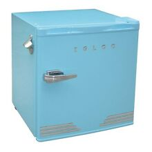 Igloo 1 6 Cu  Ft  Mini Retro Refrigerator  Blue  Built In Bottle Opener