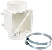 Dryer Booster Fan Lint Trap 4in Duct Paintable Vent Filter Part In Line Repair