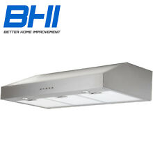 36  Under Cabinet Kitchen Range Hood Quiet Stainless Steel Vented Fan W Pipe
