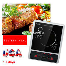 US SHIP 2000W Electric Induction Cooktop Portable Kitchen Cooker Cook Top