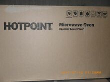 Hotpoint counter saver microwave new in box 33 x19  white