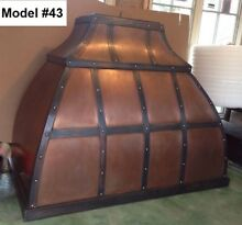 Copper Custom Hood All Metals   Sizes Incl  Motor Wall Or Island Hood  Model  43