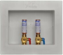 1 2 in  Washing Machine Outlet Box with Water Hammer Arrestors Push to Connect