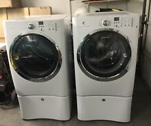 Top Of Line Electrolux White IQ Touch Front Load Washer   Dryer