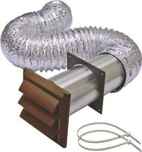 Lambro 1359B Louvered Dryer Vent Kit  5 Pieces  4 in X 8 ft