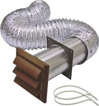 Lambro 1379B Louvered Dryer Vent Kit  5 Pieces  4 in X 8 ft