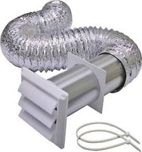LamaFlex 406W Louvered Dryer Vent Kit  3 Pieces  4 in X 5 ft