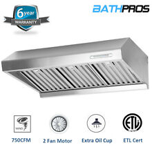 Powerful 750CFM Under Cabinet 2 Motor 30  Stainless Steel Stove Range Hood Fast