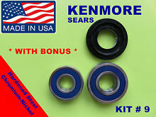 FRONT LOAD WASHER 2 TUB BEARINGS AND SEAL  Kenmore Sears  KIT   9