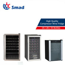 SMAD 19 28 35 Bottles Wine Cooler Refrigerator Storage Cabinet Fridge Home Bar