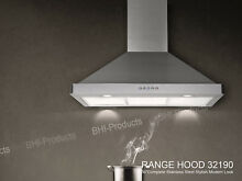 36  Kitchen Button Control Vent Stove CFM Wall Mount Stainless Steel Range Hood