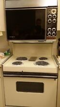 Vintage ge dulal oven range  Cream color  Working condition