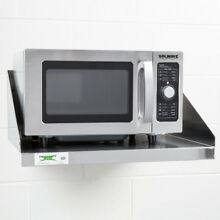 1000 Watt Stainless Steel 120V Commercial Microwave Oven with Dial Control