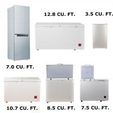 3 5 12 8 CU FT Solar Fridge Refrigerator with Freezer 110V AC 12 24V DC Off Grid
