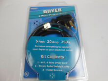 NEW Smart Choice 4 Wired Power Cord Kit Dryer