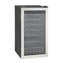 SMAD 28 Bottles Stainless Wine Refrigerator Wine Cellar Wine Cooler Wine Chiller