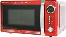 Nostalgia Electrics Retro Style Digital LED Red Microwave Oven Kitchen Ware