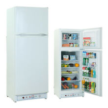 SMAD 9 4 Cu Ft AC   Gas Fridge   Refrigerator Freezer RV Boat  Cabin House White