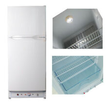 SMAD 6 4CU FT Gas Electric Fridge Freezer Propane AC Refrigerator RV Boat White