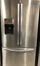Whirlpool   26 8 Cu  Ft  French Door Refrigerator  Monochromatic Stainless Steel