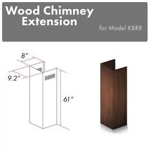 ZLINE Wooden Wall Chimney Extension for 12 5 ft ceiling for model KBAR
