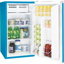 Igloo FR320I 3 2 cu  ft  Mini Refrigerator in Blue with Compact Freezer Space