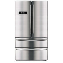 SMAD 21 Cu Ft French Door Refrigerator with Dual Bottom Freezer Stainless Steel