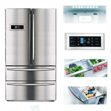 SMAD French Door Refrigerator Freezer Fridge Auto Ice Maker Stainless Steel