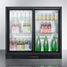 Summit SCR700B Refrigerator Freestanding Beverage Center Commercial Black