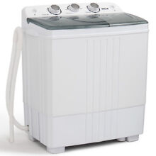 Portable Washing Machine Spin Dryer Washer Small Capacity 11lbs Twin Tub Compact
