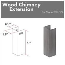 ZLINE Wooden Wall Chimney Extension for 12 5 ft ceiling model 321GG E