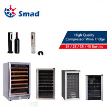 SMAD 19 46 Bottles Compressor Wine Fridge Cellar Cooler Auto Wine Corkscrew