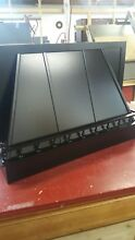 36  wood oven range hood satin black