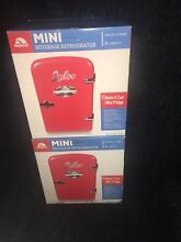 2 PACK of Igloo Mini Beverage Refrigerator 6 Cans 4 Liter Red Retro Fridge  NEW