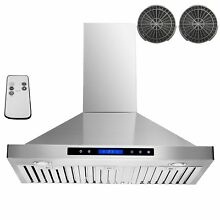 AKDY 36  Convertible Wall Mount Stainless Steel Ductless Ventless Range Hood wit