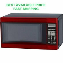 Microwave Oven 0 7 cu ft Digital 700W Red