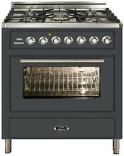 Ilve UMT76DMPM Majestic Techno 30  Dual Fuel Range Oven Warming Drawer