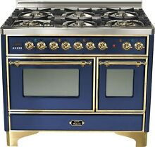 Ilve UMD1006DMPBL Majestic Pro 40  Dual Fuel Range Oven Midnight Blue