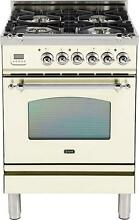 Ilve UPN60DVGGAX Nostalgie 24  Gas Range Single Oven Convection Antique White