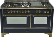 Ilve UM150FDMPNY Majestic 60  DualFuel Gas Range Double Oven Griddle Gloss Black