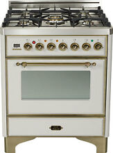 Ilve UM76DMPIY Majestic 30  Pro Single Oven Dual Fuel Range Stainless Steel