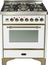 Ilve UM76DVGGBY Majestic Pro 30  Single Oven Gas Range Convection True White