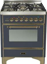 Ilve UM76DVGGMY Majestic 30  Pro Gas Range Single Oven Convection Matte Graphite