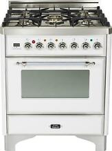 Ilve UM76DVGGBX Majestic 30  All Gas Range Single Oven True White