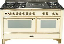 Ilve UM150SDMPA Majestic 60  Pro Dual Fuel Gas Range Double Oven French Top