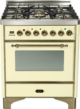 Ilve UM76DMPAY Majestic Pro 30  Single Oven Dual Fuel Range Antique White