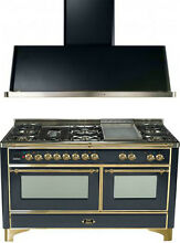 Ilve UM150FDMPM Majestic Series 60  Dual Fuel Gas Range Double Oven 2Pc Package