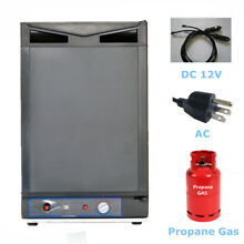 3 way Mini Propane Refrigerator AC DC LP Gas Fridge Off Grid Home Ca