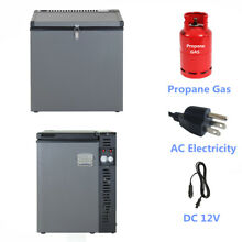 3 way 2 5 cu ft Propane Fridge Freezer AC DC Gas Home Cabin Garage Off grid RV