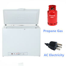 7 1 Cu Ft Chest LPG Gas Freezer Fridge Propane Gas  Electric Home Cabin Vehicle